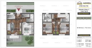 Ultima unitate  ! Pallady Villas 3 | Alternativa apartament 3 camere | incalzire prin pardoseala - imagine 18