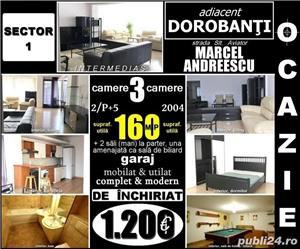 Adiacent Dorobanţi-Marcel Andreescu, 3 cam. 2/5, 160mp, loc parcare, mobilat - imagine 1
