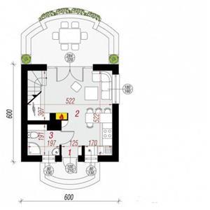 Kit casă lemn 72 mp - imagine 3