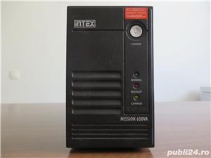 UPS Intex Mission 650VA cu baterie (acumulator) noua - imagine 2
