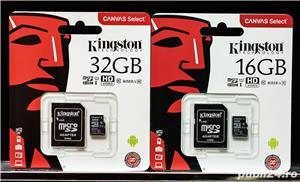 Card Memorie Kingston Micro SD 32GB Model Nou 80mb/s Clasa 10. - imagine 1