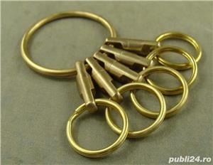 Breloc chei din alama, inele alama, heavy-duty - imagine 5