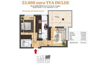 Apartament 2 camere cu TERASA SUPERBA! bloc nou Magurele - imagine 4