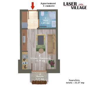 Apartament Magurele bloc NOU - imagine 3