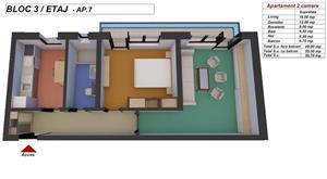 Comision 0! 2 camere confort 1 decomandat. - imagine 2