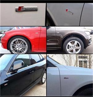 Accesorii Audi S-line embleme grila aripi breloc sline  - imagine 5
