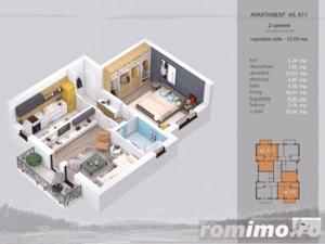 Apartament 2 camere complet decomandat, bloc nou - imagine 4