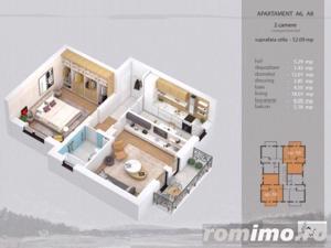 Apartament 2 camere complet decomandat, bloc nou - imagine 7