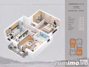 Apartament 2 camere complet decomandat, bloc nou - imagine 5