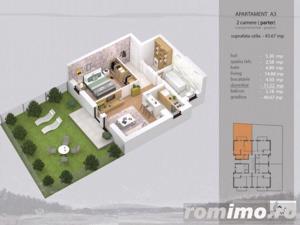 Apartament 2 camere complet decomandat, bloc nou - imagine 8