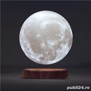 Luna Wireless 3D LED, Lampa care pluteste prin levitatie magnetica, Antech Sim - imagine 3
