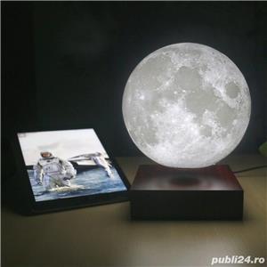Luna Wireless 3D LED, Lampa care pluteste prin levitatie magnetica, Antech Sim - imagine 2