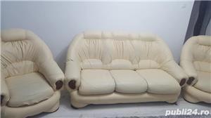 Canapea extensibilă cu 2 fotolii - imagine 1