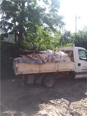 Transport nisip balast șorț pământ griblura ridic moloz cu bobcat si camionete  - imagine 4