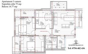 Apartament 3 camere, 75 mp utili, vanzare Doamna Stanca, COMISION 0% - imagine 8