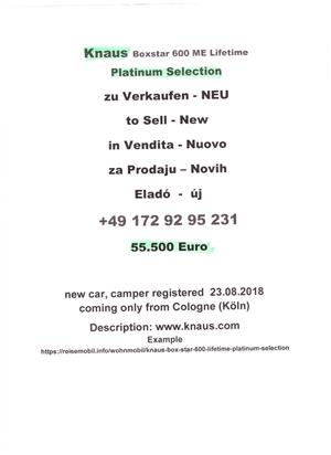Autorulota  Knaus BoxStar 600 ME Lifetime Platinum Selection 2018 - imagine 6