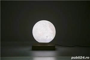 Luna Wireless 3D LED, Lampa care pluteste prin levitatie magnetica, Antech Sim - imagine 5