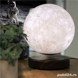 Luna Wireless 3D LED, Lampa care pluteste prin levitatie magnetica, Antech Sim - imagine 4