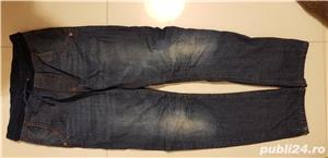 Pantalon jeans ZARA grosi pentru iarna, baieti 8-10 ani, dublati  - imagine 1