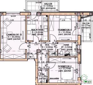 Apartament nou in Ansamblul Apulum Residence cu 3 camere suprafata utila 67.45 mp , zona Turnisor - imagine 7