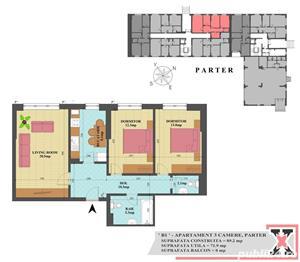 Apartament 3 camere Aparatorii Patriei - imagine 2