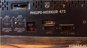 Radio amplificator lampi PHILIPS-MERKUR 473 functional 1953 - imagine 6