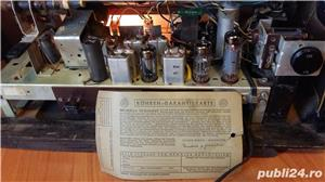 Radio amplificator lampi PHILIPS-MERKUR 473 functional 1953 - imagine 10