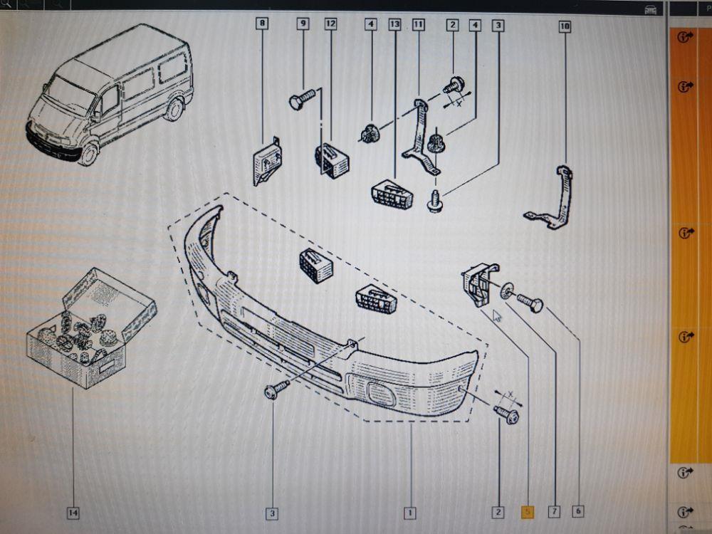Suport bara-aripa fata stanga Renault Master 2006 7701695350 7700352114 - imagine 3