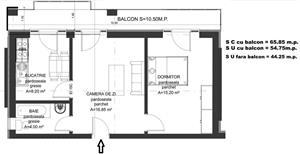 Dezvoltator apart 2 cam intabulat 45mp plata transe la dezvoltator Cl Cisnadiei - imagine 8