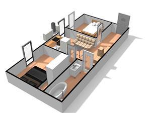 Dezvoltator apart 3 cam intabulat la alb la vila 48+10mp Cl Cisnadiei - imagine 3