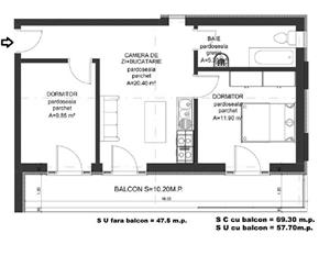 Dezvoltator apart 3 cam intabulat la alb la vila 48+10mp Cl Cisnadiei - imagine 1