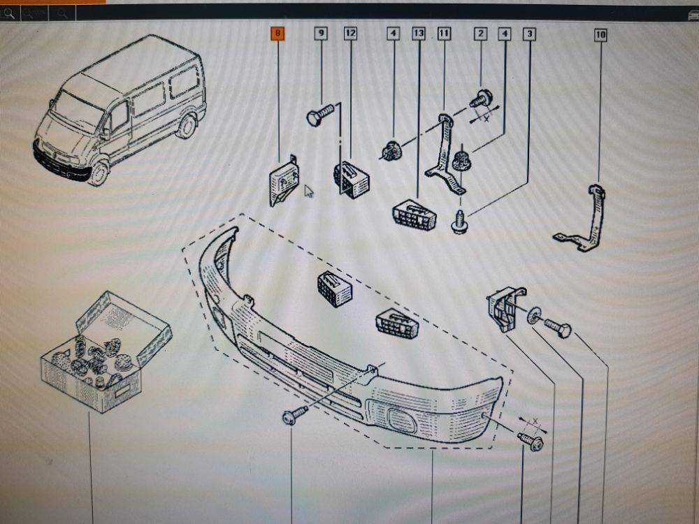 Suport bara-aripa fata dreapta Renault Master 2006 7701695351 7700352223 - imagine 3