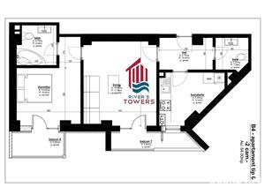 Dezvoltator-Apartament 2 camere River's Towers - imagine 9