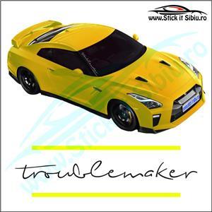 Sticker Parbriz-TROUBLEMAKER - Stickere Auto - imagine 2