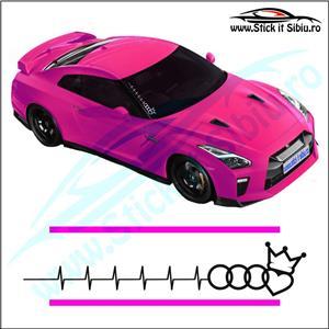 Sticker Parbriz-AUDI KING PULS - Stickere Auto - imagine 2