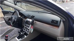 VW Volkswagen passat b6 2.0 tdi  140 cp  6 +1 viteze  highline piele- alcantara  - imagine 9