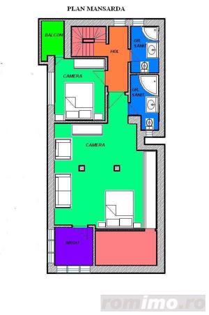 Primaverii-apartament in vila,et.1+mansarda - imagine 10