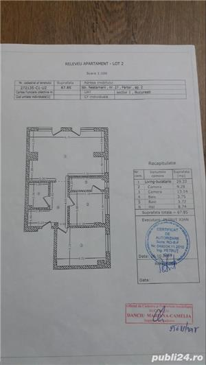De vanzare apartamente 3camere +curte parter  - imagine 4