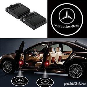 Lampi LED - logo BMW, Mercedes, Audi, VW, Ford - imagine 2