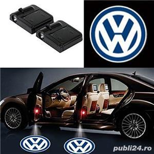 Lampi LED - logo BMW, Mercedes, Audi, VW, Ford - imagine 3