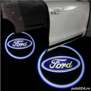 Lampi LED - logo BMW, Mercedes, Audi, VW, Ford - imagine 8