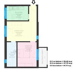 Dezvoltator apart 2 cam intabulat parcare subterana 45mp +10mp Cl.Cisnadiei - imagine 2
