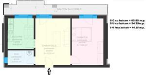 Dezvoltator apart 2 cam intabulat conf 1 supraf 45mp +11mp  etaj 2 la alb Cl.Cisnadiei - imagine 1