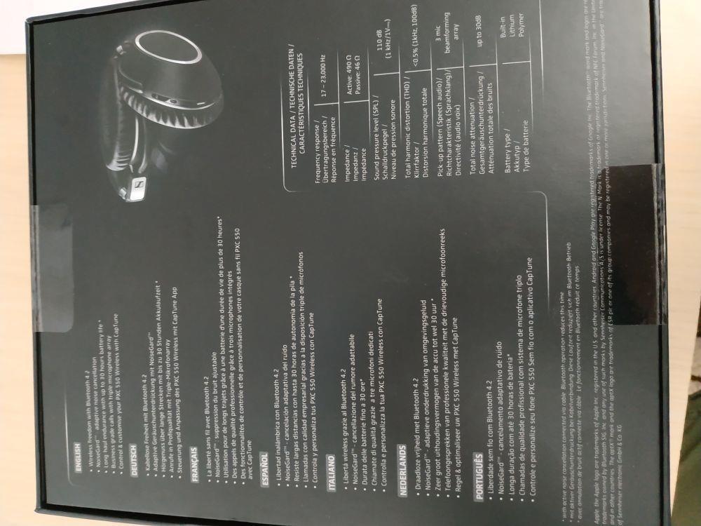 Casti audio sennheiser pxc 550 Wireless Noi Sigilate - imagine 4