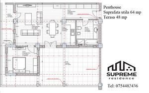 Penthouse 2 camere 64 mp utili, Doamna Stanca - imagine 7