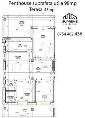 Apartament 3 camere Penthouse, 98 mp , Doamna Stanca - imagine 5
