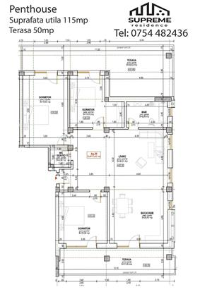 Penthouse, 115 mp utili, Doamna Stanca, Sibiu - imagine 11