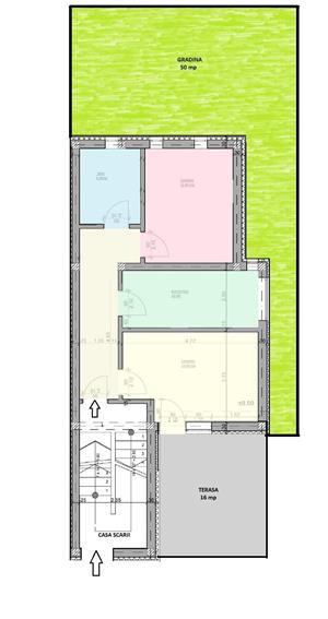 Dezvoltator apart 2 cam cu gradina intabulat 54mp+50mp Cl.Cisnadiei - imagine 2