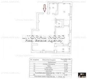 COMISION 0% - Tomis Nord - bloc nou, ap. 3 camere, centrala gaze,la cheie - imagine 12