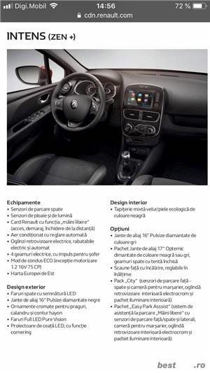 Renault Clio 2018, dotari FULL, predare LEASING 12 rate x 210 Euro, 40.500 km, NAVI, etc - imagine 14